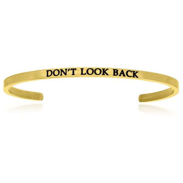 Yellow Stainless Steel Don't Look Back Cuff Bracelet