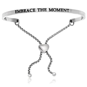 Stainless Steel Embrace the Moment Adjustable Bracelet