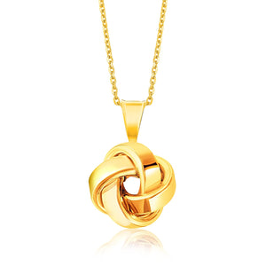 14k Yellow Gold Love Knot Style Pendant