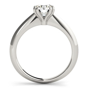 14k White Gold Double Prong Set Solitaire Diamond Engagement Ring (1 cttw)