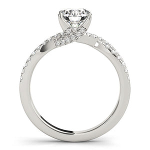 14k White Gold Fancy Prong Split Shank Diamond Engagement Ring (1 1/4 cttw)