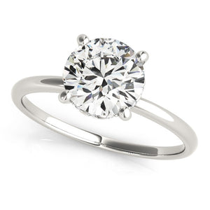 14k White Gold Prong Set Round Diamond Engagement Ring (2 cttw)