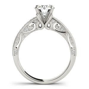 14k White Gold Antique Pronged Round Diamond Engagement Ring (1 1/8 cttw)