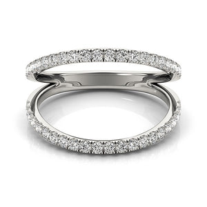 14k White Gold Diamond Split Band Ring (1/4 cttw)
