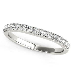 14k White Gold Pave Set Style Diamond Wedding Band (1/4 cttw)