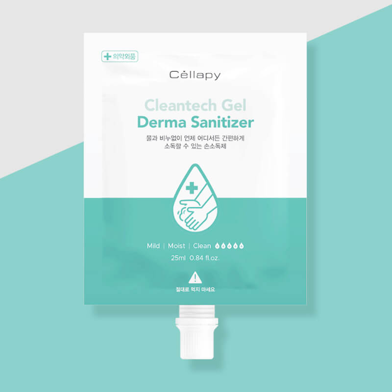 長效複方消毒乾洗手液25ml隨身包 Cleantech Gel Derma Sanitizer 25ml 💧 [Made In Korea]