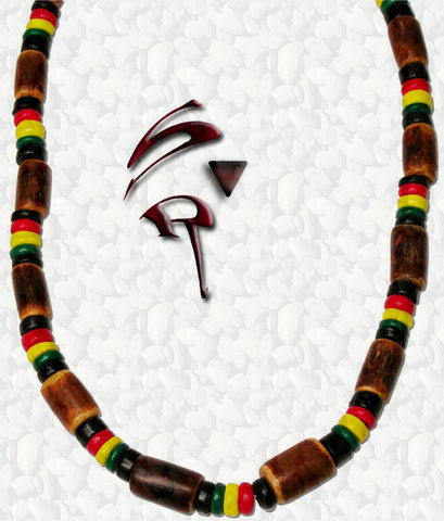 "One Love Rastafari ""Coco Bamboo"" Necklace $12.95▼"