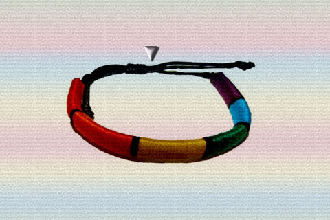 "Gay Pride Rainbow ""Out & Loud"" Tube Bracelet $12.95▼"