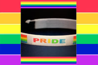 "Gay ""Pride"" Rainbow Bangle Bracelet"