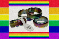 "Gay Pride Rainbow ""Light"" Ring"