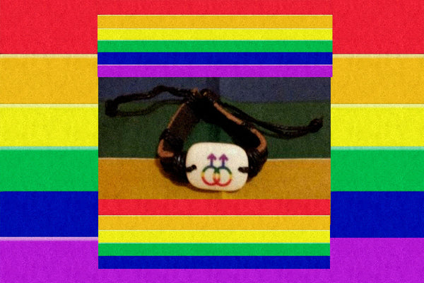 "Tribal Gay ""Male Symbol Pendant"" Bracelet $15.00 Or 2 For $25.00▼"