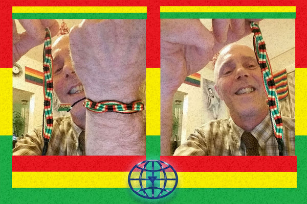 "One Love Rastafari ""Wave"" Bracelet $8.95▼"