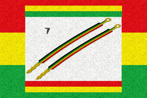 One Love Rastafari Silicone Friendship Bracelet 2 For $4.95▼