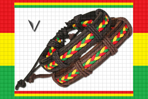 "Rastafari One Love ""Unite"" Leather Bracelet $9.95▼"