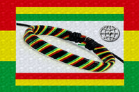 "One Love Rastafari ""Striped"" Leather Bracelet $12.95▼"