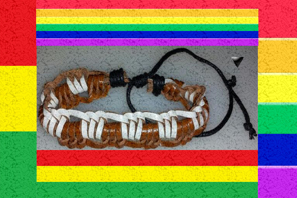 """Line Boxed"" Friendship Leather Bracelet"