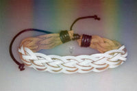 """Snow Spirit"" Braided Leather Bracelet"