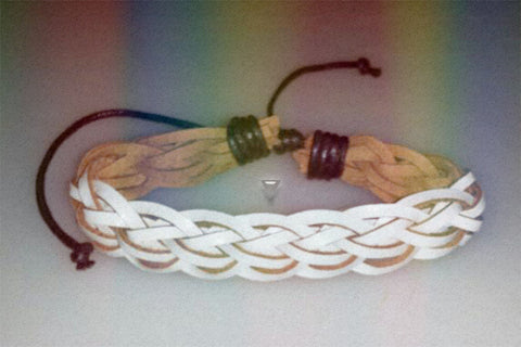 """Snow Spirit"" Braided Leather Bracelet $12.95▼"