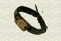 "Unity Symbol ""Together As One"" Leather Bracelet $15.00 Or 2 For $25.00▼"