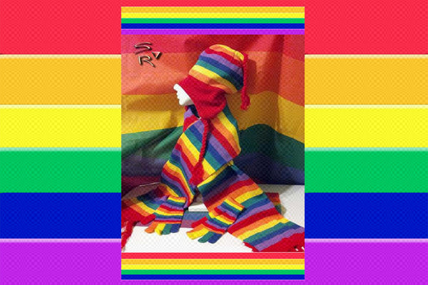 Gay Pride Rainbow Hat, Scarf & Gloves Set $39.95▼