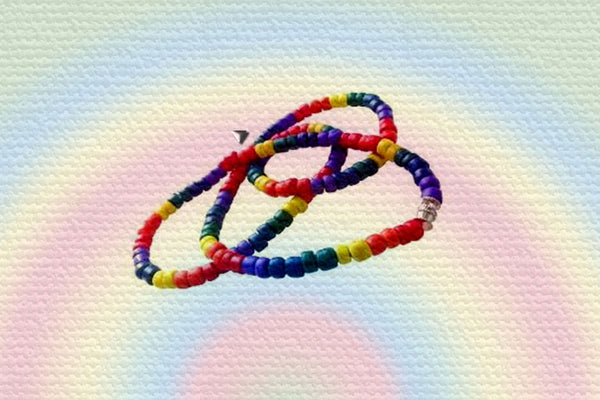 "Gay Pride Rainbow Coco Bead ""Equality"" Necklace"
