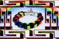 "Gay Pride Rainbow ""Dark"" Paracord Bracelet"