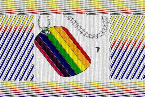"Gay Pride Rainbow ""Dog Tag"" Pendant Beaded Necklace $12.95▼"