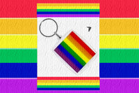 Gay Pride Rainbow Flag Key Ring
