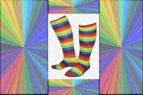 "Gay Pride Rainbow ""Over The Knee"" Socks $12.95 A Pair▼"