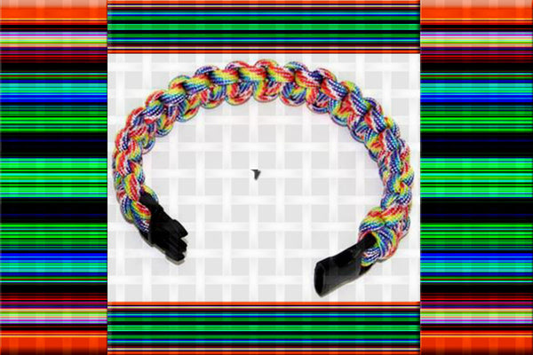 "Gay Pride Rainbow Paracord ""Braid"" Bracelet"