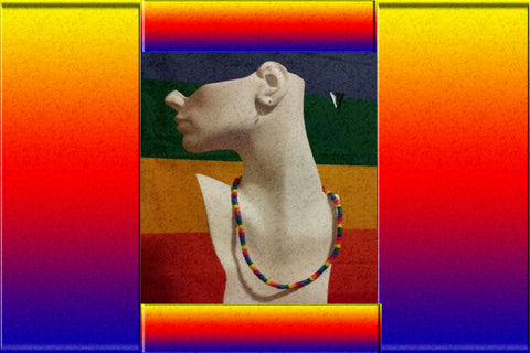 "Gay Pride Rainbow Puka Shell ""Surfer"" Necklace $12.95▼"