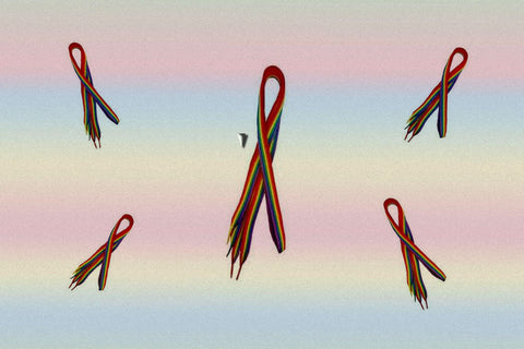 Gay Pride Rainbow Shoelaces $6.95 Per Pair▼