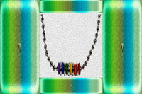 "Gay Pride Rainbow ""Silicone Beaded"" Necklace"