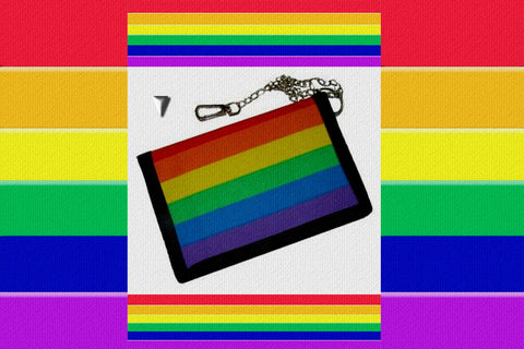 "Gay Pride Rainbow ""Flag"" Wallet $12.95▼"
