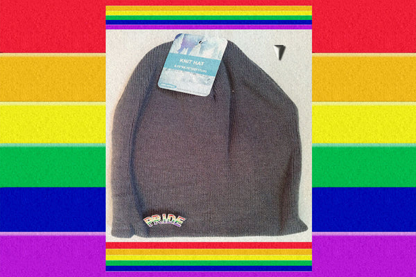"Gay Pride Rainbow ""Pinned"" Unisex Beanie Cap $19.95▼"