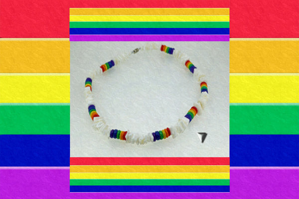 "Gay Pride Rainbow ""Love Comes First"" Necklace"