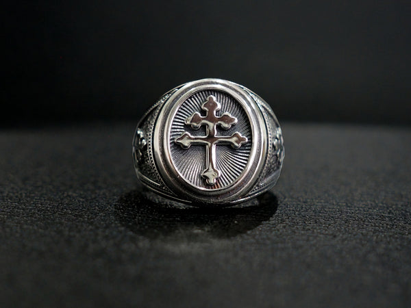 Cross Of Lorraine Magnum Ring, Magnum Foreign Legion Ring, French Ring 925 Sterling Silver Size 6-15