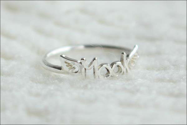 Handcrafted Personalized Name Ring - Personalized Gifts - Gift For Woman - Birthday - Valentines Day  (R3D)