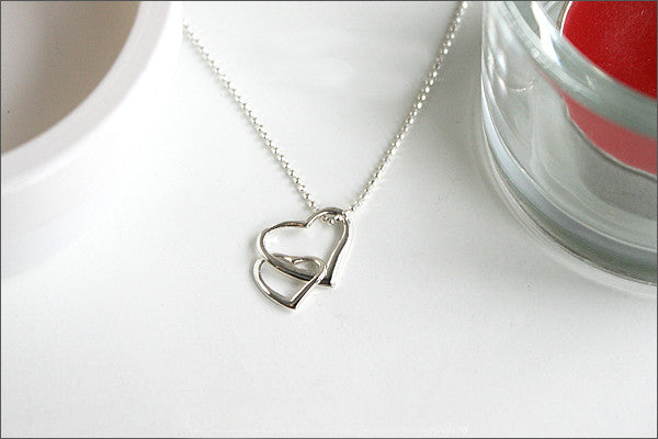 Heart Pendant - 925 Sterling Silver - Silver Pendant -  Rocker Gothic Woman Jewelry (P-003)