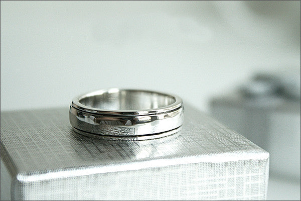 Sterling Spinner Ring - Silver Band - Sterling Silver Band Ring - custom engraved spinners - customized - personalized (RO-01)