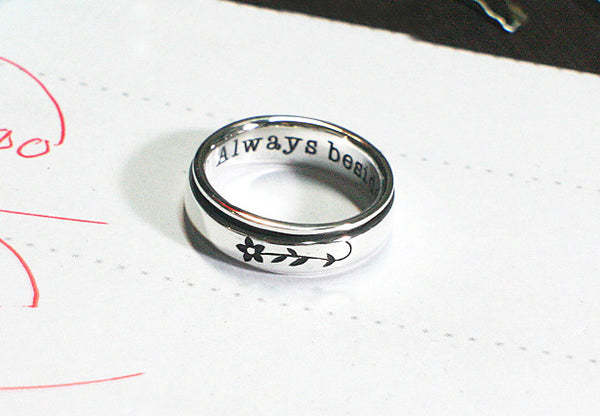 Spinner ring - Sterling silver 5.5 mm. - custom engraved spinners - Completely customized - personalized - Personalized Ring (RO-01)