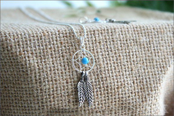 Dream feather Pendant - 925 Sterling Silver - Silver Pendant - Rocker Gothic Woman Jewelry (P-053)
