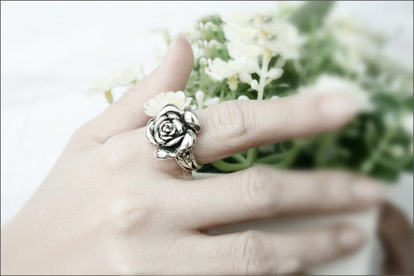 Rose Ring, 925 Sterling Silver, Woman Jewelry -  Silver ring (SR-034)