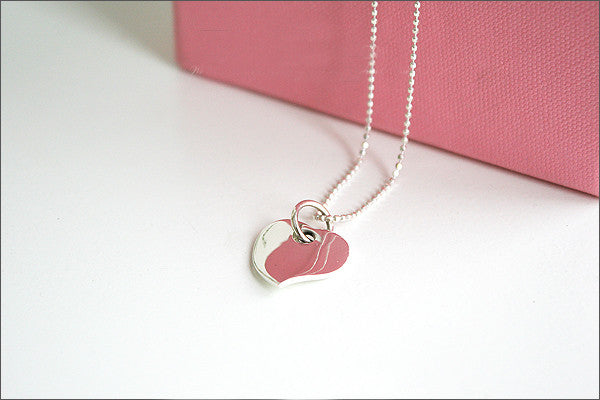 Heart Pendant - 925 Sterling Silver -  Silver Pendant - Rocker Gothic Woman Jewelry (P-001)