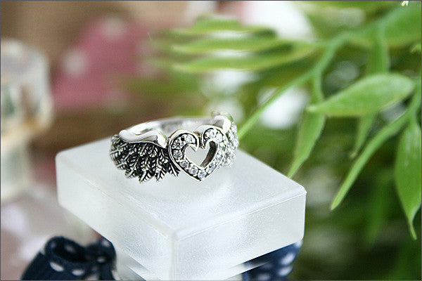 Angel Wing ring, 925 Sterling Silver, Flying ring (SR-78)