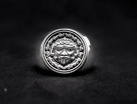 Ancient Greek Coin Gorgon Medusa Ring, Gorgon Ring 925 Sterling Silver Size 6-15