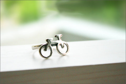 925 Sterling Silver Bicycle Ring - Silver Bicycle Jewellery - Bicycle Lover Fans, Bike Ring, Silver ring, bicycle ring, bicycle (R-101)