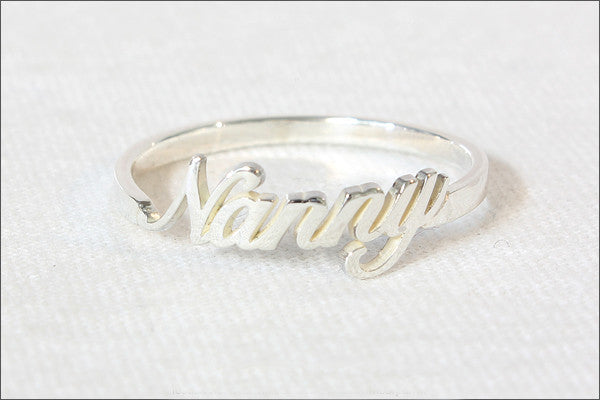 Name ring- Personalized name ring – sterling silver 925 – special unique gift Valentine gift - letter ring - alphabet ring  (R3D)