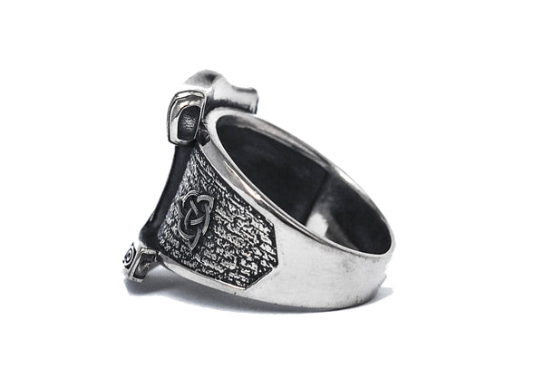 Thor's Viking Hammer Mjolnir Men's Biker Rocker Ring 925 Sterling silver (R-72)