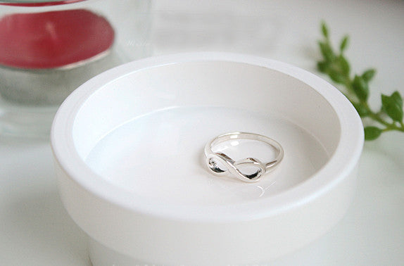 Infinity Rings - Free Engraving Inside Ring - custom engraved ring - Sisters Infinity ring - Forever Friends Ring (R-65)